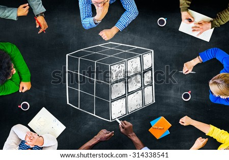 Cube Cubic Puzzle Solution Solving Problem Concept #314338541