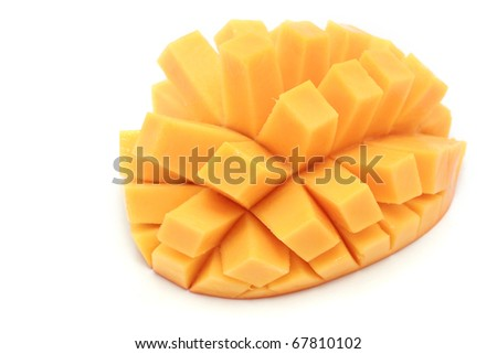 how to cut a mango in cubes