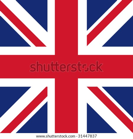 cube flag of united kingdom / great britain