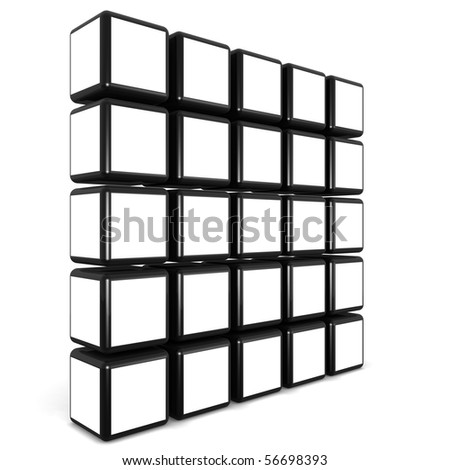 Cube photo frame display image in white space select white alpha to add your photo