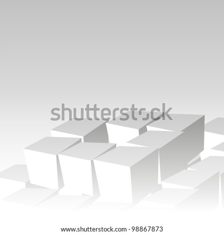 Cubes background. Cube