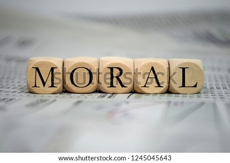 Cubes dice with moral ストックフォト ©