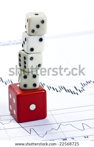 cubes on business background