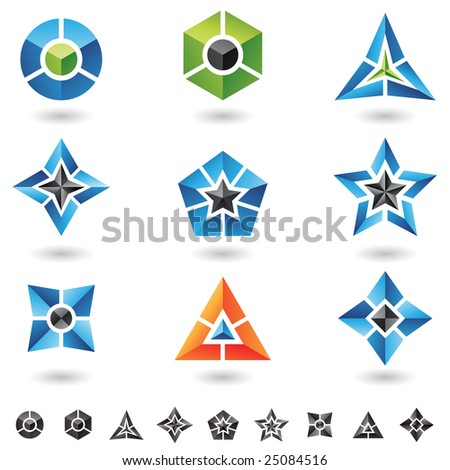 3d Shapes Pyramid. of 3d geometrical shapes