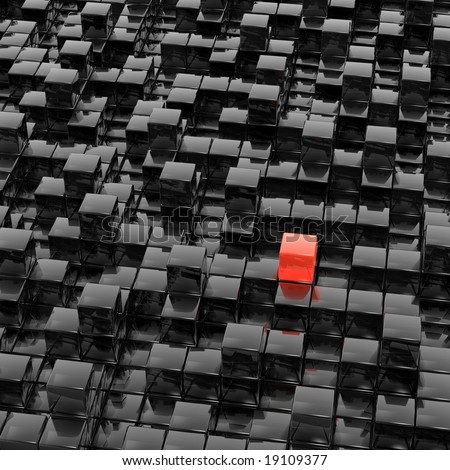cubes town (red & black series)
