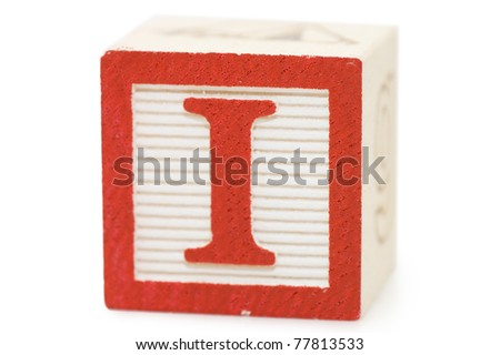 Cubes with letters isolated on white