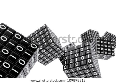Cubes with the binary code numbers