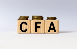cubes with the word CFA on them. Care concept.