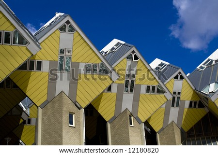 Cubic houses in Rotterdam, the Netherlands