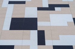 cubism background texture wall tiles in an extended perspective