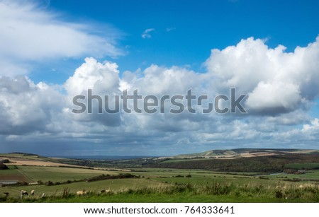 Cuckmere Valley in East Sussex, looking North.