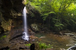 Cucumber Falls in Ohiopyle State Park, Pennsylvania