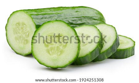 Cucumber isolated. Cucumber on white. Full depth of field. With clipping path. Fresh organic cucumber isolated clipping path