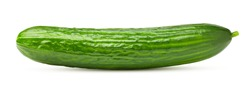 cucumber isolated on white background, clipping path, full depth of field