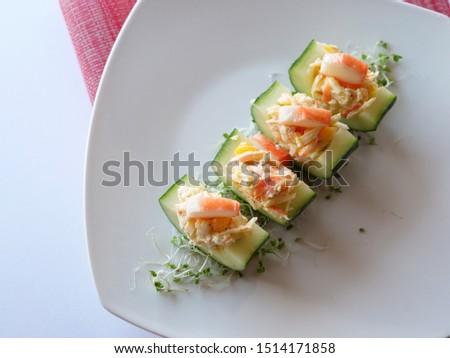 Cucumber Salad with Surimi Salad #1514171858