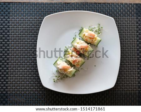 Cucumber Salad with Surimi Salad #1514171861