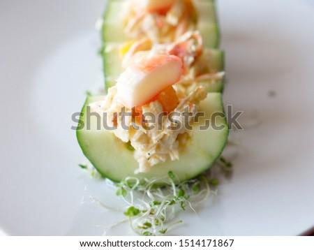 Cucumber Salad with Surimi Salad