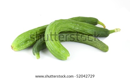 Cucumbers isolated over white background.