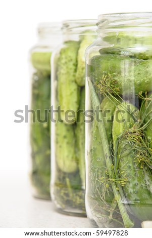 Cucumbers prepared for pickling #59497828