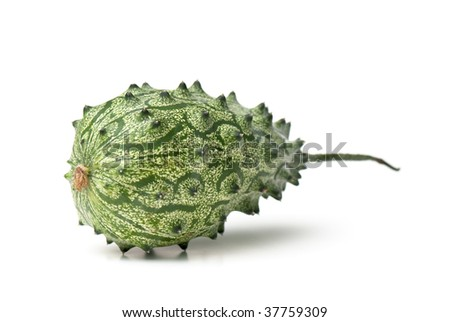 Cucumis metuliferus - Exotic fruit. kiwano. horned melon, African horned cucumber Anguriya.