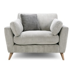 Cuddler Chair Seat Isolated. Gray Cozy Two-Seater. Wingback Armchair. Modern Upholstered Arm Chair. Contemporary Accent Club Chair with Armrests. Interior Furniture. Living Room Sofa Set Front View