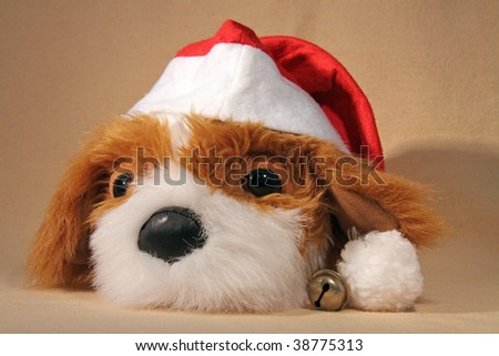 Cuddly toy-dog is ready for X-mas 02