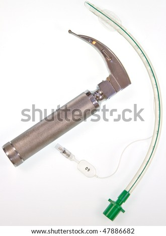 Cuffed endotracheal tube which is passed through the larynx into the windpipe during an anaesthetic to maintain an airway and supply oxygen and inhaled anaesthetic.