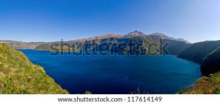 Cuicocha caldera and lake in Ecuador South America