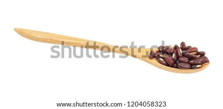 Cuisine and Food, Raw and Uncooked Dried Kidney Beans Isolated on White Background, Good Source of Dietary Fiber, Vitamins and Minerals.