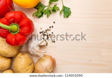 Culinary ingredients background