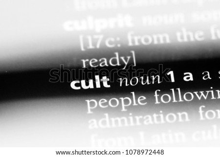 cult word in a dictionary. cult concept