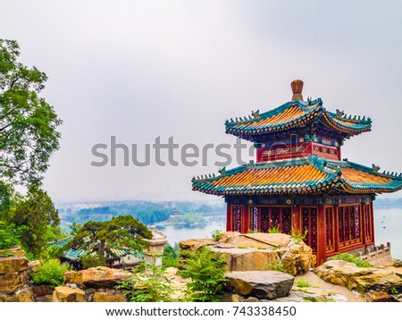 Cultural landscape of the Summer Palace in Beijing, China #743338450