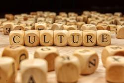 CULTURE word written on wood block