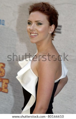 """CULVER CITY, CA - JUNE 4: Scarlett Johansson arrives at the 2011 Spike TV """"Guys Choice"""" Awards on June 4, 2011 at Sony Pictures Studios in Culver City, CA. It is the 5th annual """"Guys Choice"""" show. - stock photo"""