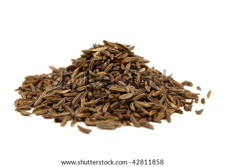 Cumin isolated on white