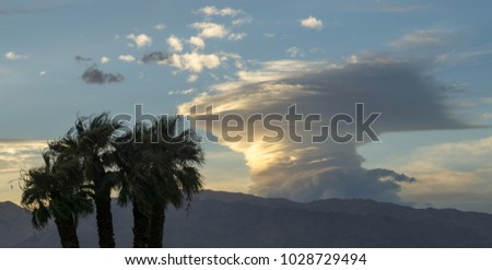 Cumulonimbus cloud at Furnace Creek in Death Valley National Park, CA, USA