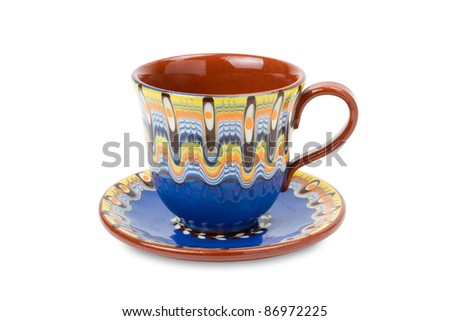 cup and saucer, isolated