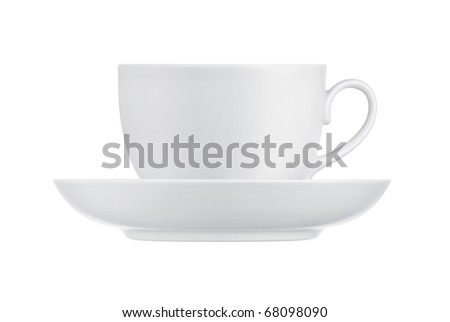 Cup and saucer on a white background