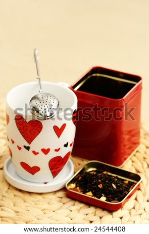 cup and tea infuser - food and drink