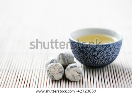 cup od green tea - tea time