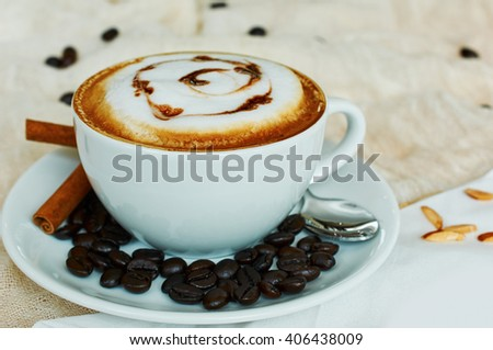 Cup of Cappuccino Coffee #406438009