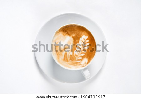 cup of cappuccino, top view