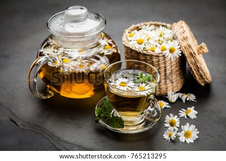 Photo of Cup of chamomile tea