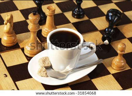 cup of coffee and chess stock photo 31854068 shutterstock