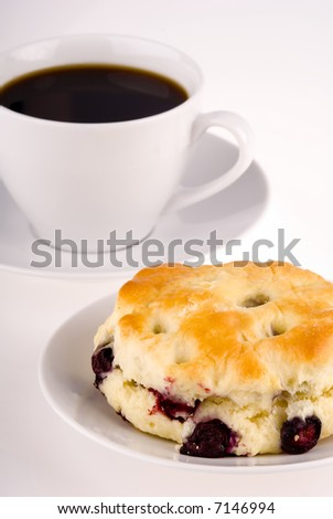 Cup of Coffee and Scone