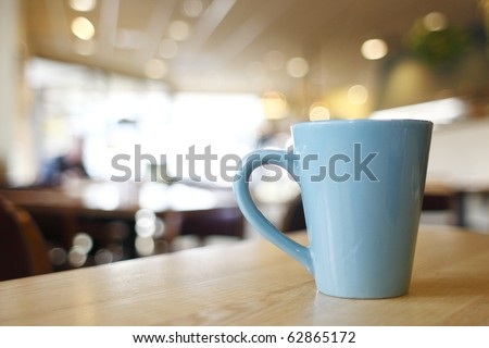Cup of coffee at a diner.