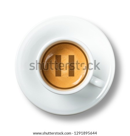 Cup of coffee - coffee break - pause icon  #1291895644