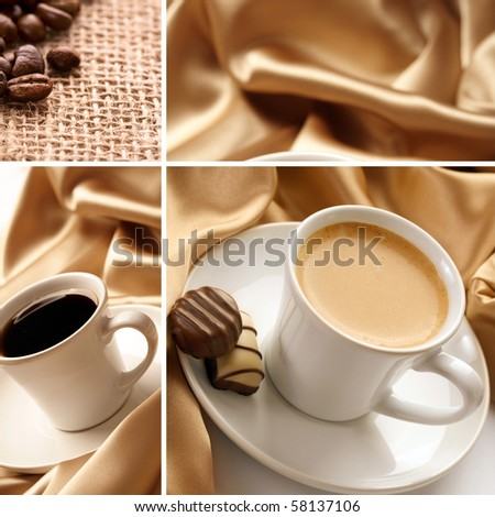 cup of coffee collage