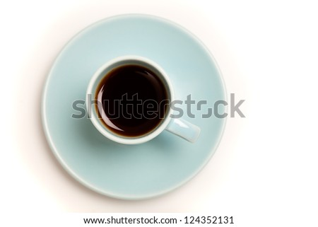 Cup of Coffee  / Cup of black Coffee / Cup of black espresso in Demitasse