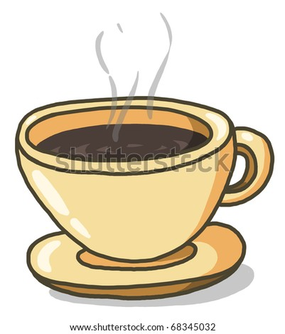 Cup of coffee illustration; Espresso coffee cup